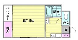 スペースイン21[5階]の間取り