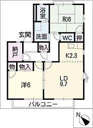 イチゴハウスA棟[1階]の間取り