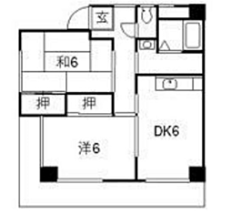 レジデンス下中野B棟[2階]の間取り