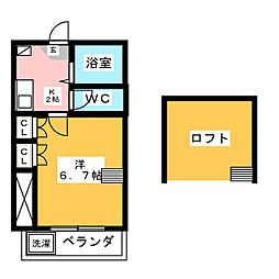FLATS HAMAMATSU[2階]の間取り