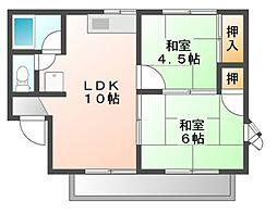 ストリートK[1階]の間取り