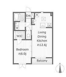 カデルアパート[1階]の間取り