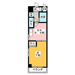 ウィスラー八田[7階]の間取り