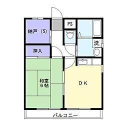 KEYコーポ[1階]の間取り
