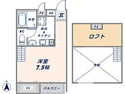 For Realize友井[102号室]の間取り