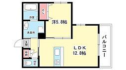 大阪府豊中市中桜塚2丁目の賃貸マンションの間取り
