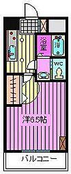 わらびマンション[408号室]の間取り