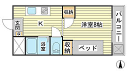 兵庫県揖保郡太子町蓮常寺の賃貸マンションの間取り