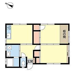 本牧間門アパート[1F号室]の間取り