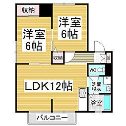 サンライフ笹賀 A棟[1階]の間取り