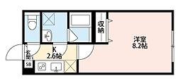 Platinum Court EastII(プラチナム コート イーストツー)[101号室]の間取り