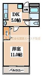 三国ヶ丘マンション[4階]の間取り