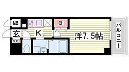 レジュールアッシュ神戸元町[904号室]の間取り