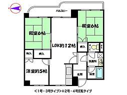 青山グランドコーポI[6階]の間取り