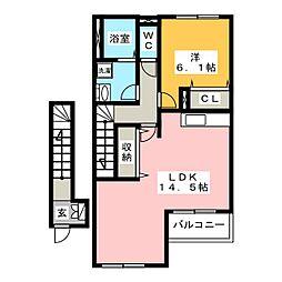 バーラム[2階]の間取り