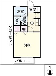 ジュネス7 A[2階]の間取り