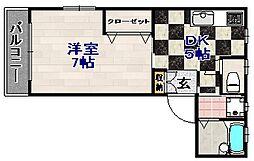 Aレガート大橋南[2階]の間取り