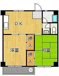 福岡県北九州市小倉北区今町2丁目の賃貸マンションの間取り