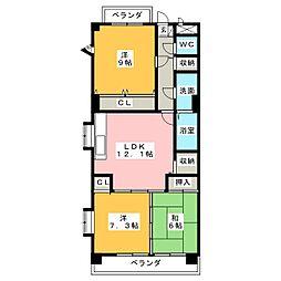 滝子ヒルズ[5階]の間取り