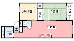 甲子園第3コーポラス[203号室]の間取り
