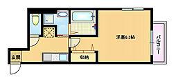 大阪府大阪市都島区中野町4の賃貸マンションの間取り