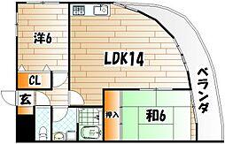ライフハウス城野駅東[3階]の間取り