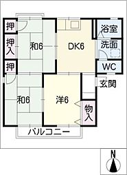 セジュール青木B棟[1階]の間取り