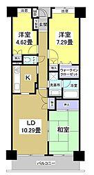 成子坂壱番街[8階]の間取り