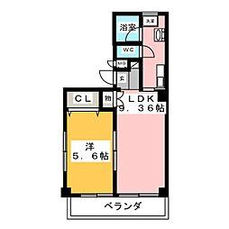 アーバネス上飯田[5階]の間取り