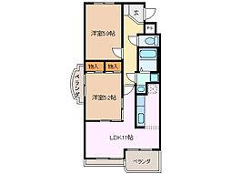 サニーパレス・K[3階]の間取り