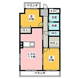 アフロディーテ[6階]の間取り