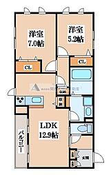シャーメゾンソレイユ[2階]の間取り