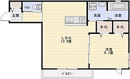 新築へーベルメゾン大県3丁目[1階]の間取り