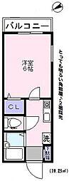 ハイツアオキ第23 bt[-201号室]の間取り