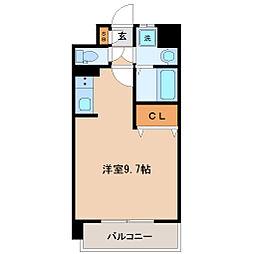 仙台市営南北線 勾当台公園駅 徒歩7分の賃貸マンション 6階ワンルームの間取り