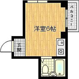 アパートメント守口VIII 3階ワンルームの間取り