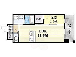 PHOENIX Clove Tomoi 10階1LDKの間取り