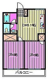 中村ハイツ[105号室]の間取り