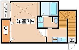 兵庫県神戸市須磨区行幸町3丁目の賃貸アパートの間取り