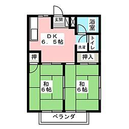 メゾンコスモ[津島][1階]の間取り