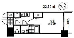 プレサンス三宮ディライト[4階]の間取り