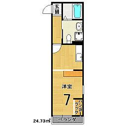 ドーリアNIJO駅東[2階]の間取り