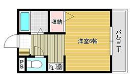 シャルマン昭和町[4階]の間取り