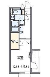 JR中央本線 西八王子駅 徒歩9分の賃貸マンション 1階1Kの間取り