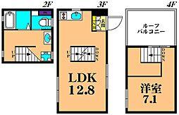 Corridor 3階1LDKの間取り