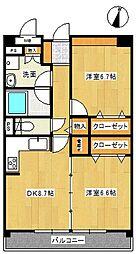 サニーフォレスト藤原参番館[2階]の間取り