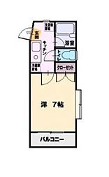 SST湘南台[2階]の間取り