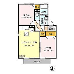 TOi et moi 弐番館[2階]の間取り