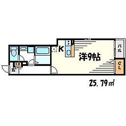 コンコルディア甲子園口[2階]の間取り