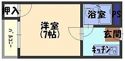 プレアール古川橋IV[3階]の間取り